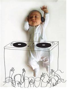 Vincent als DJ - Foto von Adele Enersen