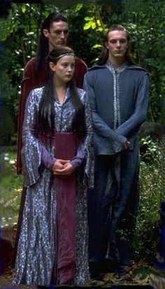 Arwen and her brothers Elladan and Elrohir