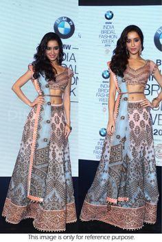 Bollywood Style Shraddha Kapoor Net Lehenga In Sky Blue and Baby Pink Colour #bollywood  #fashion #lehenga #shraddhakapoor
