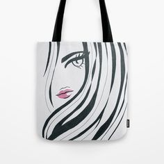 Buy Girl Power Black and White Tote Bag by lorimoro. Worldwide shipping available at Society6.com. Just one of millions of high quality products available.