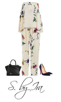 """Untitled #469"" by shaiqspere on Polyvore featuring TIBI, Christian Louboutin and Fendi"
