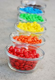M & M's - maybe for the table?