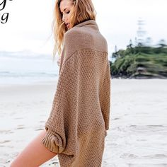 Brown knitted Kimono Cute and comfy kimono style top. Forever 21 Tops Camisoles