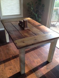 Farmhouse Table – The Country Grammar Table – farmhouse table Diy Dining Room Table, Rustic Farmhouse Table, Farmhouse Kitchen Tables, A Table, Diy Kitchen Tables, Country Farmhouse, Wood Tables, Farm Table Diy, Side Tables