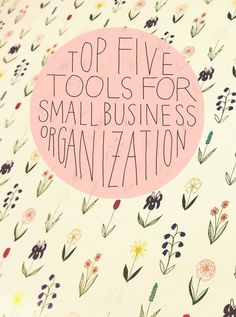 tools and programs out there that can help small business owners get organized. But these are our favorites — the ones that have really helped us.We hope that one or all may be of some help to you, too! And if you have some t