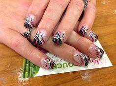 Black nail art design