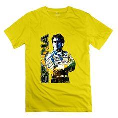 MKSD Funny Ayrton Senna Design T-shirt For Men