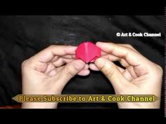 💕 Gift for Valentine's day! Ideal gift |Easy Origami heart ring|DIY paper crafts - YouTube
