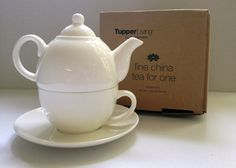 Fine china Tea for One set Donated by: M. Tea For One, Silent Auction, Fine China, Tea Pots, Tableware, Dinnerware, Dishes, Tea Pot