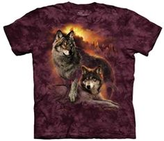 Wolf Sunset T-Shirt by The Mountain available from the Wolf Den Store