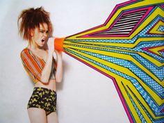Nikki Farquharson's Mixed Media Girls // (fashion mixed media art inspiration)