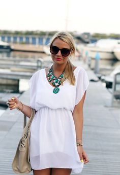 White dress for the honeymoon - cute