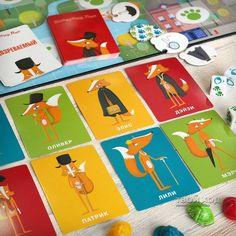 """Настольная игра """"Коварный лис"""" ... Board game """"Outfoxed"""" ... #игрыдлядетей #лиса #детектив #cluedo #gameforkids #fox #detective #boardgames #outfoxed"""