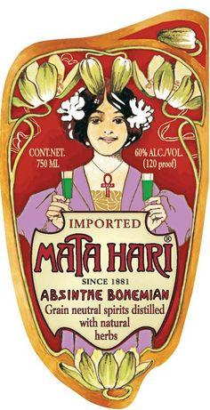 ABSENTA + MATA HARI, UNA EXPLOSIÓN DE MISTERIO  Mata Hari absinthe from Austria.