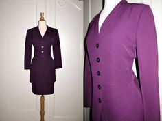 Vintage Karl Lagerfeld Chanel Designer Skirt Suit Stunning Detail and Buttons