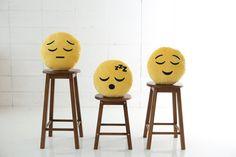 emojiislandusaTop off plain stools with whimsical emoji cushions until you need them for entertaining. - Emoji Island