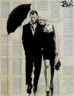 """Saatchi Art Artist Loui Jover; Drawing, """"each other"""" #art"""