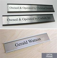 Personalized Medical Office Signs