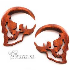 Tawapa: Pair of Bloodwood Skull Silhouettes