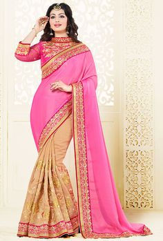 Superb Brown Color #Bollywood Saree @ http://www.indiandesignershop.com/product/superb-brown-color-bollywood-saree/