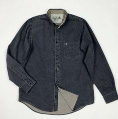 b71fd8ec6c6ce5 Murphy and nye camicia uomo usato denim XL shirt manica lunga grigio T5340  #murphynye #