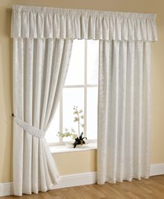 Orlando Ready Made Lined Curtain In Natural From £17.90