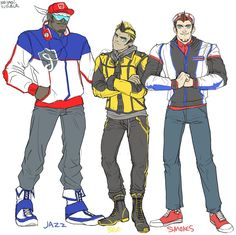 Humanformers Jazz, Bumblebee, and Smokescreen by massive-destruction on deviantART (Three really awesome guys; a saboteur, a scout, and an Elite Guard)
