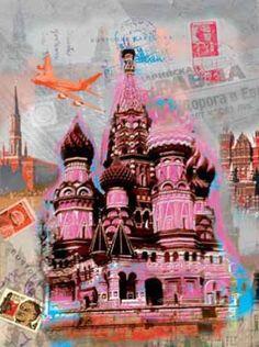 Robin-Jules-Moscow-Vintage-Moskau-Fertig-Bild-40x50-Wandbild-Staedte