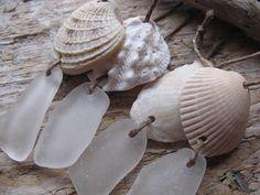 BEACH GLASS Ornament Sea Glass Ornament by lakehousetreasury