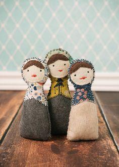 Hand Made Eco-Friendly Felt Matryoshka Doll Rattle by Newmies