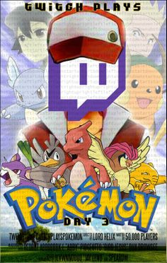 Twitch Plays Pokemon Week 1 Posters . Shocking Progress.