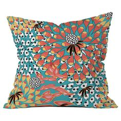 Transform your home into a plush bohemian retreat with this beautifully crafted pillow by artist Juliana Curi for DENY Designs.   Pro...