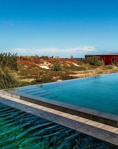 Beachfront pool at Bahía Vik, Uruguay
