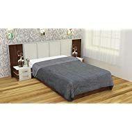 K.K TEXTILE Polyester Blanket - Grey Winter Blankets, Textiles, Grey, Furniture, Home Decor, Gray, Interior Design, Home Interior Design