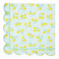 Lemon Scallop Edge Napkins perfect for a pink lemonade party  #sprinklesomehappiness