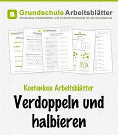 Kostenlose Arbeitsblätter Verdoppeln & Halbieren