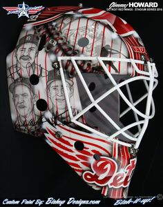 Jimmy Howard gives the Detroit Tigers a nod with his 2016 Stadium Series mask design this winter.