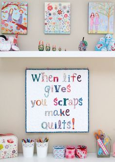 When Life Gives you Scraps Mini Quilt PDF Pattern - Tied with A Ribbon