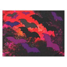 Bats In Flight Tablecloth - halloween decor diy cyo personalize unique party
