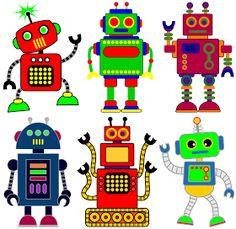 Free robot clip art for classrooms, teachers and parents.