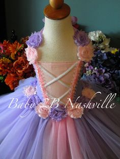 Chicas Rapunzel princesa estilo tutú traje vestido básico bebé - niñas 8