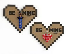 Free printable Minecraft Valentine heart from Bliss Bloom Blog: You can even skip the charms and just sign it.