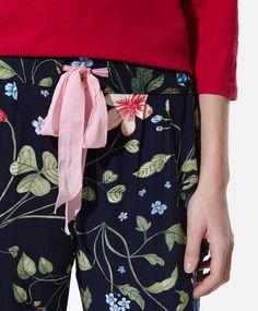 Pantalon long fleurs - OYSHO