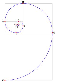 Phi Spiral with Nodes