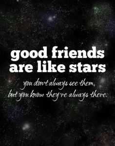 Good Friends Are Like Stars Art Typography by ThinkPositivePrints