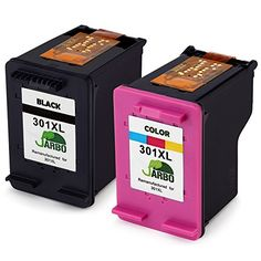 awesome JARBO for HP 301 XL Ink Cartridges (1 Black,1 Tri-colour) Compatible with HP Deskjet 1000 1010 1050 2000 2050 HP Envy 4500 4502 4504 4505 HP Officejet 2620 2622 2624 (pls see a full list of printers in the description)