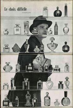 Vintage Perfume Ad, circa 1953.