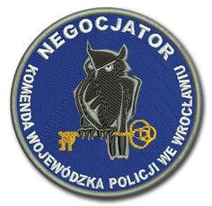 Naszywka, emblemat Negocjator Komenda Wojewódzka Policji we Wrocławiu