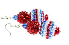 Patriotic Earrings Bubble Gum Earrings by NancysCrystalFantasy