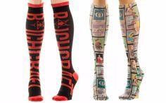 Lot of 2 - American Horror Story Themed Knee-High Women's Socks AHS TV Show Set #Bioworld #KneeHigh